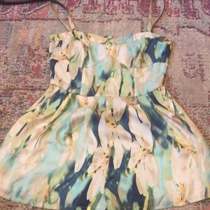 Bb Dakota lily flower silk romper